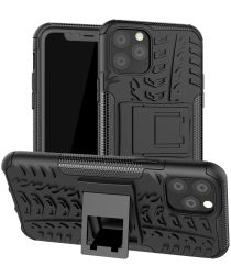 Apple iPhone 11 Pro Hoesje Robuust Hybride Zwart