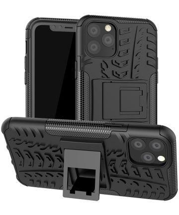 Apple iPhone 11 Pro Hoesje Robuust Hybride Zwart Hoesjes