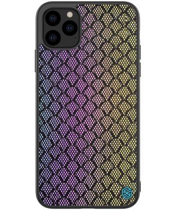 Nillkin Dazzling Hybride Apple iPhone 11 Pro Hoesje Paars/Goud Hoesjes