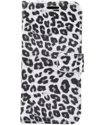 Apple iPhone 11 Hoesje Portemonnee met Print Luipaard Hoesjes
