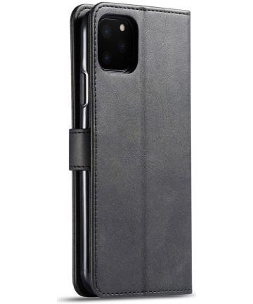 Apple iPhone 11 Pro Stand Portemonnee Bookcase Hoesje Zwart Hoesjes