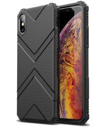 Apple iPhone XS TPU Shield Hoesje Zwart