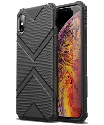 Apple iPhone XS TPU Shield Hoesje Zwart Hoesjes