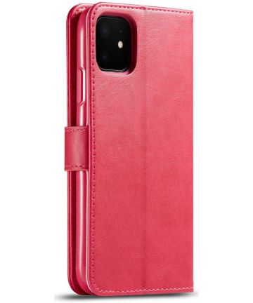 Apple iPhone 11 Portemonnee Bookcase Hoesje Met Stand Rood Hoesjes