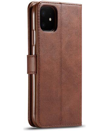 Apple iPhone 11 Portemonnee Bookcase Hoesje Met Stand Bruin Hoesjes