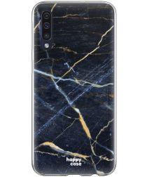 HappyCase Samsung Galaxy A70 Flexibel TPU Hoesje Donker Marmer Print