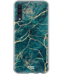 HappyCase Samsung Galaxy A70 Flexibel TPU Hoesje Aqua Marmer Print