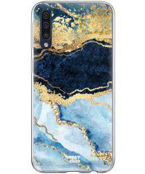 HappyCase Samsung Galaxy A70 Flexibel TPU Hoesje Blue Marble Print
