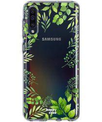HappyCase Samsung Galaxy A50 Hoesje Flexibel TPU Leaves Print