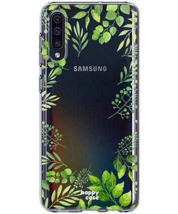 HappyCase Samsung Galaxy A50 Hoesje Flexibel TPU Leaves Print Hoesjes
