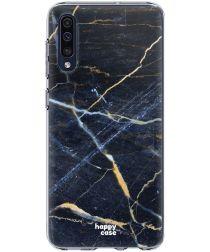 HappyCase Samsung Galaxy A50 Hoesje Flexibel TPU Donker Marmer Print