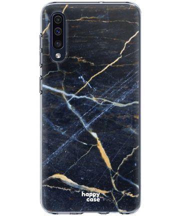 HappyCase Samsung Galaxy A50 Hoesje Flexibel TPU Donker Marmer Print Hoesjes