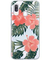 HappyCase Samsung Galaxy A40 Flexibel TPU Hoesje Tropic Vibe Print