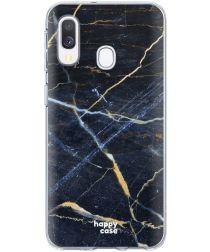 HappyCase Samsung Galaxy A40 Flexibel TPU Hoesje Donker Marmer Print