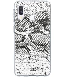 HappyCase Samsung Galaxy A40 Flexibel TPU Hoesje Slangen Print