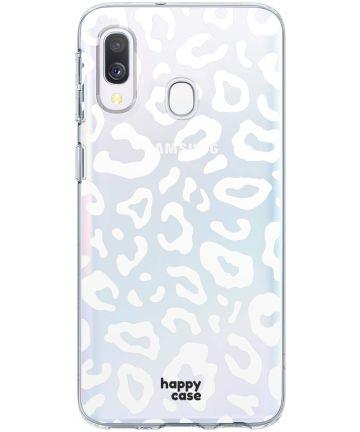 HappyCase Samsung Galaxy A40 Flexibel TPU Hoesje Luipaard Print Hoesjes