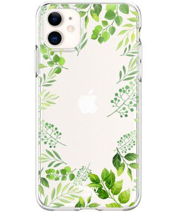 HappyCase Apple iPhone 11 Hoesje Flexibel TPU Leaves Print Hoesjes