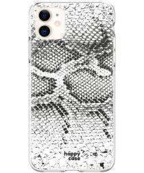 HappyCase Apple iPhone 11 Flexibel TPU Hoesje Slangen Print