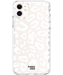 HappyCase Apple iPhone 11 Flexibel TPU Hoesje Luipaard Print