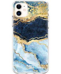 HappyCase Apple iPhone 11 Flexibel TPU Hoesje Blue Marble Print