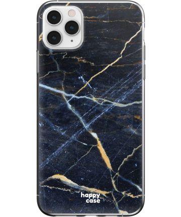 HappyCase iPhone 11 Pro Max Hoesje Flexibel TPU Donker Marmer Print Hoesjes