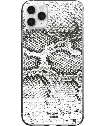 HappyCase iPhone 11 Pro Max Hoesje Flexibel TPU Slangen Print Hoesjes