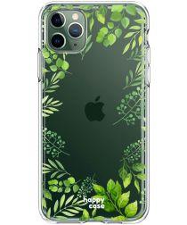 HappyCase iPhone 11 Pro Hoesje Flexibel TPU Leaves Print