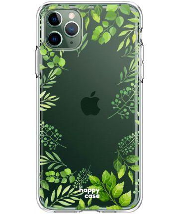 HappyCase iPhone 11 Pro Hoesje Flexibel TPU Leaves Print Hoesjes