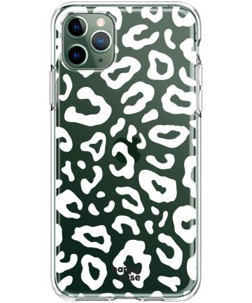 HappyCase iPhone 11 Pro Hoesje Flexibel TPU Luipaard Print Hoesjes