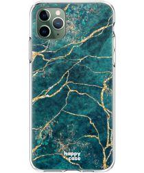 HappyCase iPhone 11 Pro Hoesje Flexibel TPU Aqua Marmer Print
