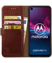 Rosso Element Motorola One Action Hoesje Book Cover Bruin