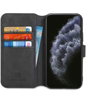 DG Ming Retro Portemonnee Apple iPhone 11 Pro Max Hoesje Zwart Hoesjes
