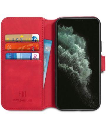 DG Ming Retro Portemonnee Apple iPhone 11 Pro Hoesje Rood Hoesjes