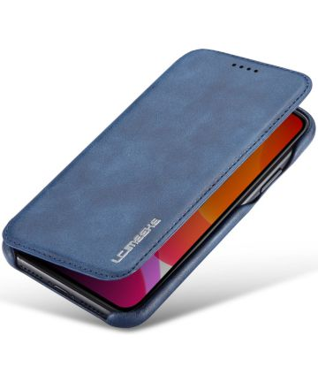 Apple iPhone 11 Retro Portemonnee Bookcase Hoesje Blauw Hoesjes