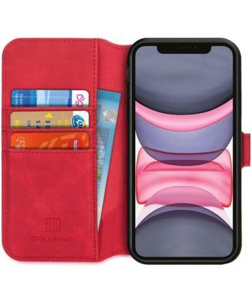DG Ming Retro Portemonnee Apple iPhone 11 Hoesje Rood Hoesjes