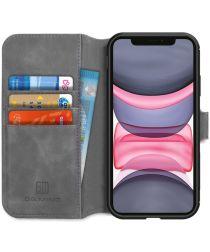 DG Ming Retro Portemonnee Apple iPhone 11 Hoesje Grijs