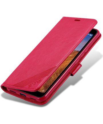 AZNS Portemonnee Xiaomi Redmi 7A Hoesje Rood Hoesjes