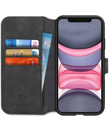 DG Ming Retro Portemonnee Apple iPhone 11 Hoesje Zwart Hoesjes