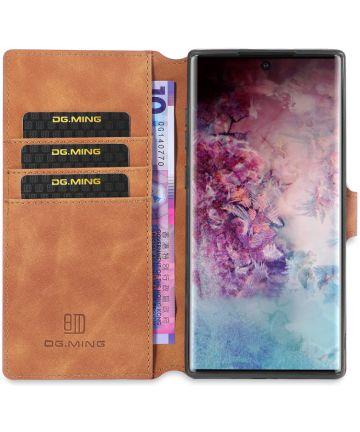 DG Ming Retro Portemonnee Samsung Galaxy Note 10 Plus Hoesje Bruin Hoesjes