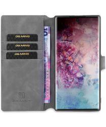 DG Ming Retro Portemonnee Samsung Galaxy Note 10 Plus Hoesje Grijs