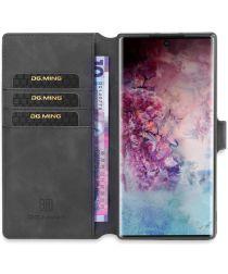 DG Ming Retro Portemonnee Samsung Galaxy Note 10 Plus Hoesje Zwart