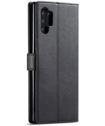 Samsung Galaxy Note 10 Plus Portemonnee Flip Bookcase Hoesje Zwart Hoesjes