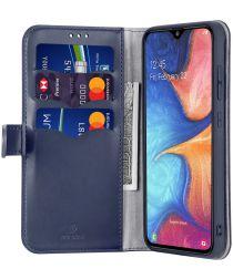 Dux Ducis Kado Series Samsung Galaxy A40 Portemonnee Hoesje Blauw