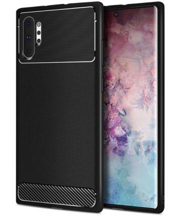 Samsung Galaxy Note 10 Plus Armour Series TPU Hoesje Zwart Hoesjes