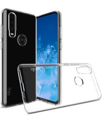 IMAK UX-5 Series Motorola One Action TPU Hoesje Transparant