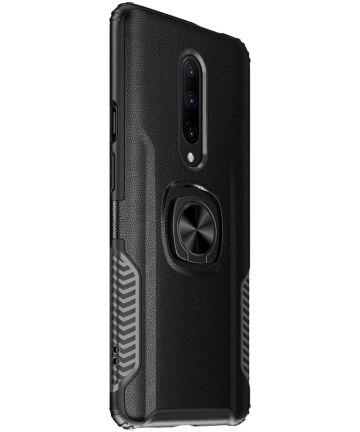 OnePlus 7 Pro Hybride Hoesje met Kickstand Zwart Hoesjes