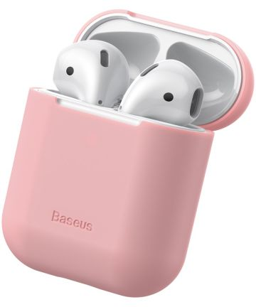 Baseus Ultradun Siliconen Apple AirPods Hoesje Roze Hoesjes