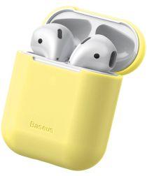 Baseus Ultradun Siliconen Apple AirPods Hoesje Geel