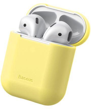 Baseus Ultradun Siliconen Apple AirPods Hoesje Geel Hoesjes