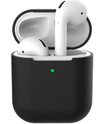 Apple AirPods Flexibel Zacht Siliconen Hoesje Zwart